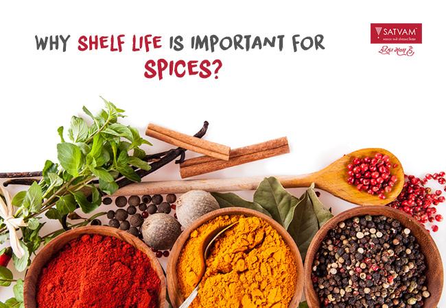 Shelf life for Spices